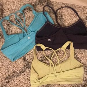 Lululemon Sports Bras - Power Y and Free to Be